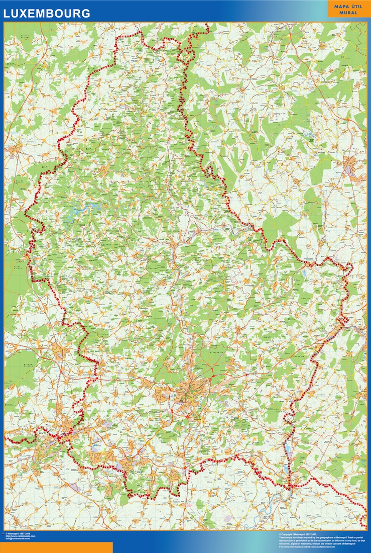 Carte Luxembourg